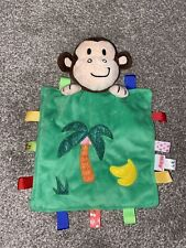 Nuby Monkey Comforter Plush Blankie Soft Toy Taggies Soother Baby
