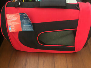 New Red Pet Life Folding Dog/Cat Carrier