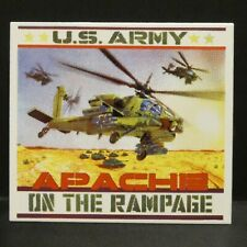 """Dollhouse Miniatures Metal Sign Us Army Apache Helicopter 2 1/2"""" x 2 1/4"""""""