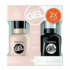 Sally Hansen Miracle Gel Nail Polish+Top Coat, Birthday Suit Duo Pack, #201/110