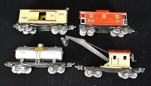 Lionel Prewar Freight 4 Car Set 2560 2654 2655 2657