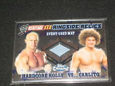 Hardcore Holly & Carlito 2008 Topps Chrome Wwe Certified Ringside Relics Card
