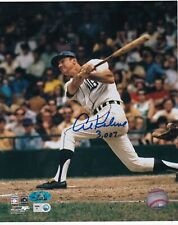 AL KALINE  DETROIT TIGERS  3007 HITS  MAB AUTHENTICATED  ACTION SIGNED 8x10