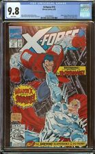 """X-Force #10 CGC 9.8 """"Deadpool Cameo"""" 1992 White Pages"""