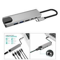 USB C Hub Typ C Adapter Mit 4K HDMI 2 USB 3.0 Anschlüssen RJ45 PD Für Macbook