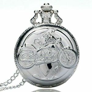 Large fine chain silver pocket watch Stylish and exquisite personality moto L