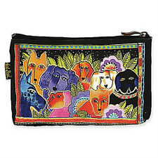 LAUREL BURCH - DOG TAILES TALES COSMETIC BAG - CANINE CLAN - NWT!