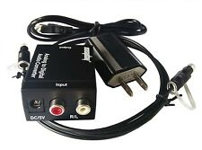 R/L RCA Analog to Digital Audio Converter Adapter Optical Coaxial Toslink Signal