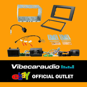 CTKVL04 Volvo XC90 Double Din Car Stereo Fascia Complete Amp ByPass Fitting Kit