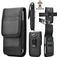 Nylon Wallet Case Holster Pouch with Belt Clip Loop For iPhone Samsung Lg Moto
