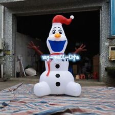 Large Airblown Outdoor Christmas Inflatables Olaf Inflatable Snowman 3M  b