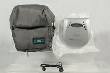 Vintage Sony Walkman Silver Portable CD Player D-EJ725 + Headphones + Carry Case
