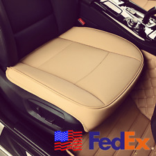 1X Universal Beige PU Leather Deluxe Car Front Chair Cover Seat Cushion Pad USA