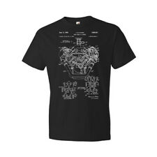 Hemi V8 Engine Shirt 1st Gen Hemi Muscle Car Tee Engine Blueprint Body Shop Tee