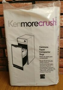 Kenmore Trash Compactor Bags Durable Wet-Strength Fit Cuff Paper 13350 - Sealed