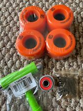 Z Flex Z smooth V2 Skateboard Wheels Orange 63mm 83a Set A7 Bearings T Tool Hard