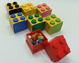 LEGO LUNCH/STORAGE MINI BOX 4 FOR SMALL SNACKS 9 COLOURS CHECK SIZE