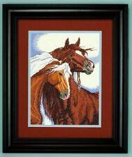 "Sweethearts (Horses) Cross Stitch Kit - Needle Treasures - 14 Count - 9"" x 12"""