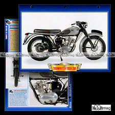 #013.07 Fiche Moto TRIUMPH T20 200 TIGER CUB 1957 Classic Bike Motorcycle Card
