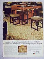1978 Magazine Advertisement Page For Armstrong Flooring Kitchen Vintage Ad
