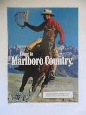 1990 Print Ad Marlboro Man Cigarettes Western Cowboy Lasso