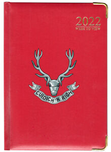 Seaforth Highlanders 2022 A4 desk diary, red