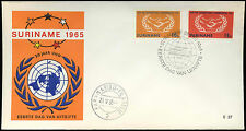 Suriname 1965 Int. Co-Op Year FDC First Day Cover #C29273