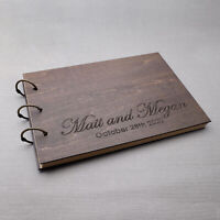 Custom Guest Book Engraved Wedding Book Wedding Album Rustic Wedding Guestbook