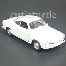 """4.5"""" Welly Volkswagen VW Karmann Ghia Coupe Diecast Toy Car 43634D White"""