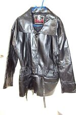 REBELDE by J.L.S. WOMEN'S black leather jacket SIZE L / G  C- measurements ex-co
