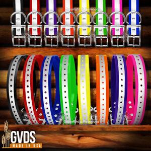 "Garmin Compatible 1"" Reflective Collar Straps  DC50 TT10 TT15 T5 C70 F90 G3 EXP"