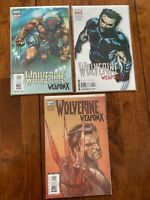 Wolverine Weapon X #1- 2 Variant Covers Plus Regular Edition - Lot of 3