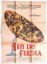 Vtg Mexican Movie Poster 1960 Fin De Fiesta (Arturo Garcia Buhr / Lautaro Murua)