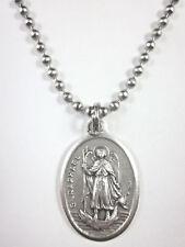 "St Raphael the Archangel Medal Pendant 24"" Ball Chain Gift Box & Prayer Card"