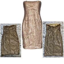 Twin-Set SIMONA BARBIERI Golden Sequins Glittery Party Dress Festive  M