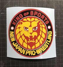 New Japan Pro Wrestling NJPW King of Sports Decal Sticker Car Truck Laptop