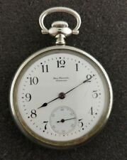 VINTAGE 16 SIZE BALL WATCH CO COMMERCIAL STANDARD WITH BALL CASE FROM 1899