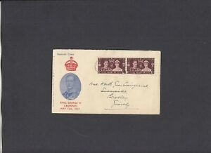1937 Coronation Stamp Collecting Ltd. FDC Grimsby wavy line cancel. Cat £40