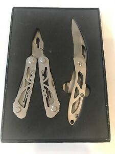 2 Piece Husky Knife & Multi Tool Set 9-In-1 Multi Function Tool