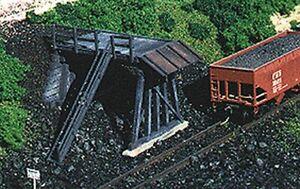 "Blair Line - Truck Dump -- Kit - 4 x 1-3/4""  10 x 4.4cm - HO"