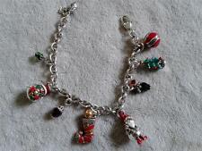 Brighton Christmas bracelet 8 charms chain silver plated modern fashion