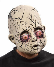 Crack Baby Creepy Doll Face Head Haunted Undead Ghost Adult Halloween Mask