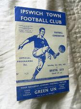 Ipswich Town Football Reserve Fixture Programmes (1950s)