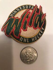 "Minnesota Wild Vintage RARE Embroidered Iron On Patch 2.5"" X 2"""