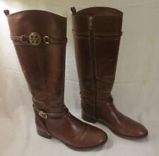 TORY BURCH CALISTA BROWN LEATHER RIDING BOOTS IN ORIGINAL BOX SIZE 11