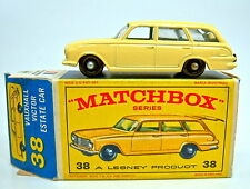 """Matchbox RW 38B Vauxhall Victor gelb schwarze Räder grüne IE in """"E"""" Box"""
