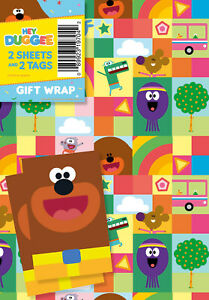 Cbeebies Hey Duggee wrapping paper 2 x Sheet Wrap & 2 x Gift Tag Pack