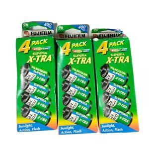 Fujifilm 1014258 Superia X-TRA 400 35mm Film 4 Pack x3 (XTRA400) 12 total