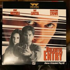 """Unlawful Entry / widescreen - 12""""  Laserdisc Buy 6 for free shipping"""