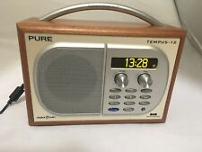 Pure Tempus 1 S DAB,FM Digital Radio Tested Working + power supply